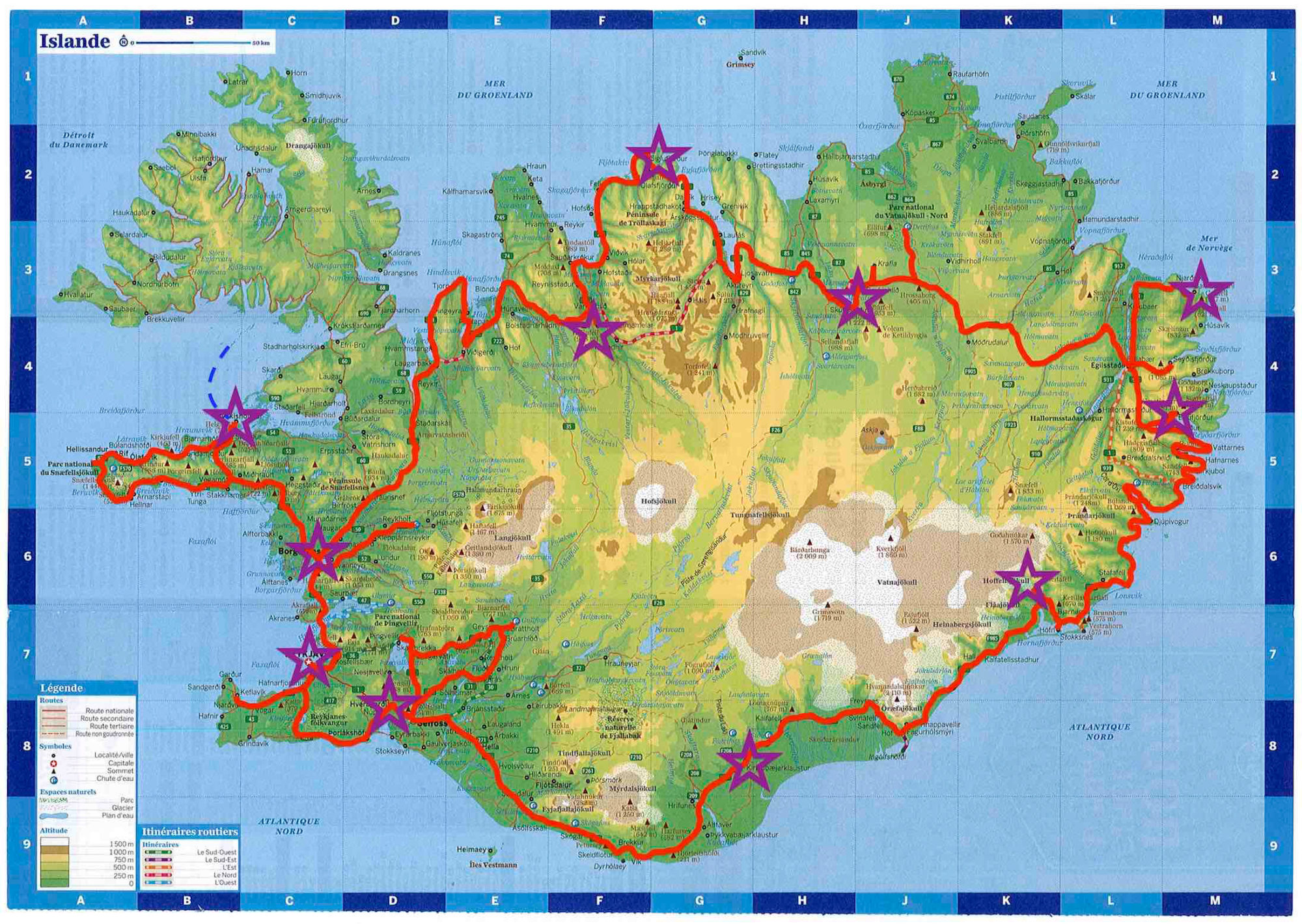 Islande itinéraire