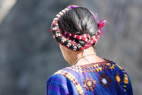 Coiffure traditionnelle des femmes de San Antonio Palopo