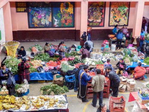 Marché aux fruits et légumes de Chichicastenango