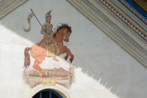 Mercantour, Saint-Dalmas-le-Selvage, fresque sur l'église