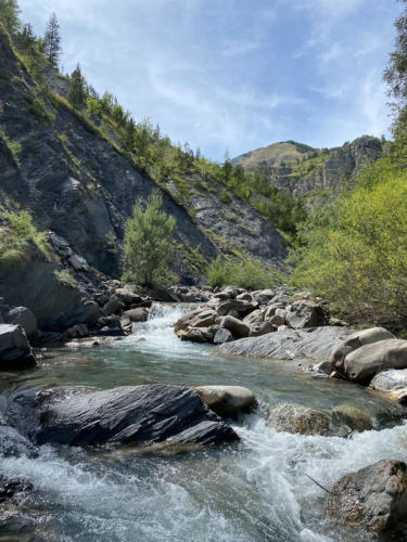Mercantour, Saint-Dalmas-le-Selvage,  la rivière